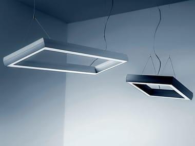 LED direct light extruded aluminium pendant lamp OVO Q | Pendant lamp