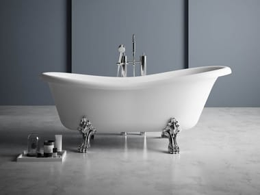 Vasca da bagno centro stanza ovale in Kstone su piedi OXFORD