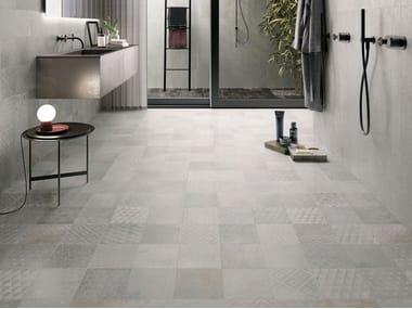 Porcelain stoneware wall/floor tiles with metal effect OXIDART PATCHWORK LIGHT