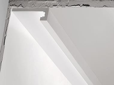 Plaster linear lighting profile P8