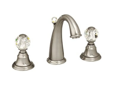 3 hole washbasin tap with Swarovski® crystals PACIFICA | 3 hole washbasin tap