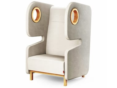 Wing wool armchair PACKMAN | High-back armchair