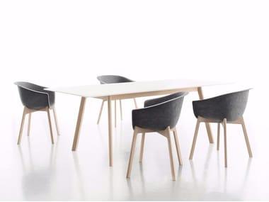 Tavolo da pranzo rettangolare in laminato PAD TABLE