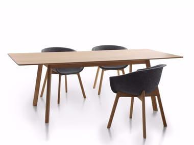 Tavolo da pranzo rettangolare in rovere PAD TABLE WOOD