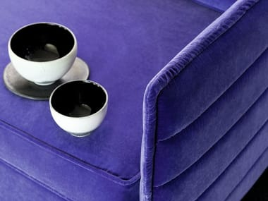 Solid-color velvet fabric PALATINE
