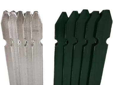 Pali da recinzione in acciaio zincato e/o in PVC PALI PER RECINZIONE PROFILATI A 'T'