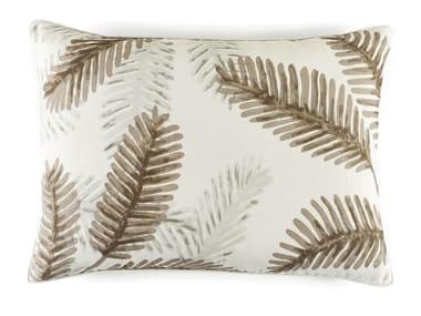 Motif rectangular linen cushion PALMA