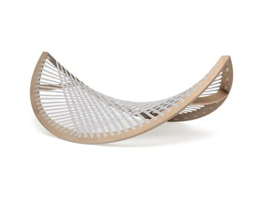 Wooden hammock PANAMA BANANA GREY DARK WOOD