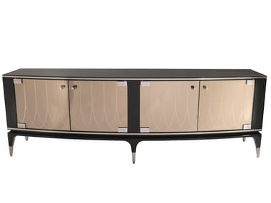 Lacquered wooden sideboard with doors PANAY