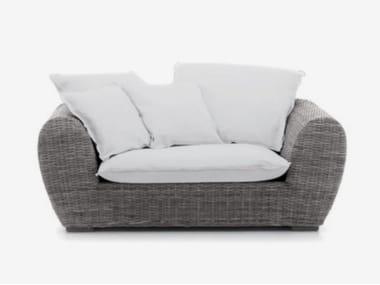 Resin garden sofa with removable cover PANDA 01