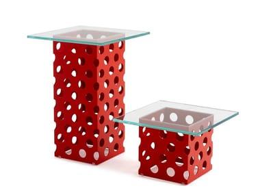 Tavolino in cristallo PANDA | Tavolino