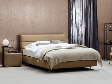 Fabric bed with upholstered headboard PANEL | Bed