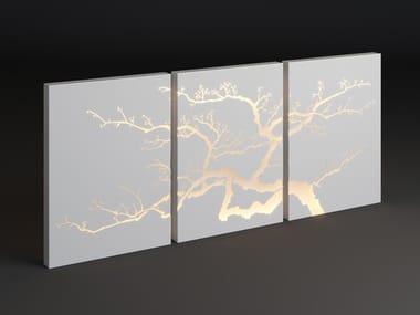 LED metal Outdoor wall lamp PANEL TRIPLE TREE