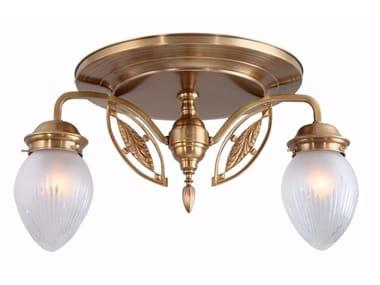 Lampada da soffitto fatta a mano in ottone PANNON 2