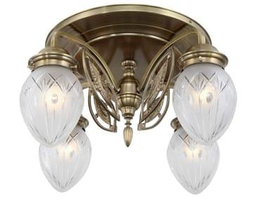 Lampada da soffitto fatta a mano in ottone PANNON 4