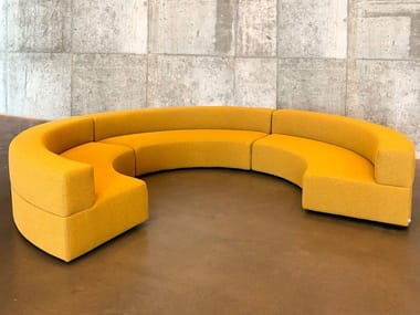 Curved modular fabric sofa with removable cover PANORAMA CURVE