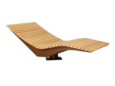 Wooden outdoor chair PANORAMA