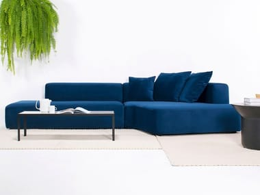 Corner fabric sofa with removable cover PANORAMA SEC