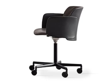Height-adjustable polypropylene chair with castors PAPER | Chair with castors