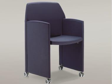 Chaise de conférence pliage en tissu avec accoudoirs PAPILLON