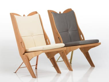 Folding multi-layer wood easy chair PAPILLON | Folding easy chair