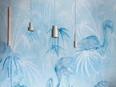 Papel de parede ecológico lavável livre de PVC PAPYRUS AND LIGHT
