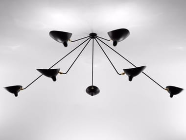 Adjustable metal ceiling lamp SPIDER PAR7B