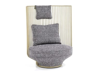 High-back fabric armchair PARADISE BIRD | High-back armchair
