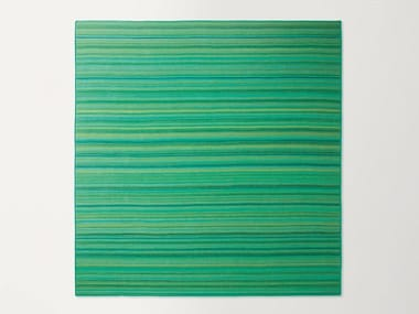 Square striped wool rug PARALLELO | Square rug