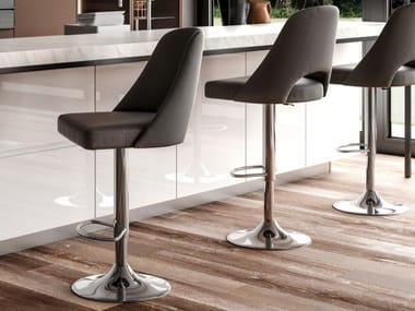 Stool with gas lift with footrest PARIGI