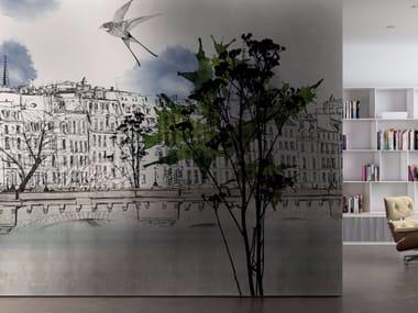 Carta da parati lavabile in vinile con paesaggi PARIS