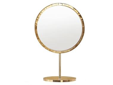 Countertop round mirror PARIS ORO | Mirror