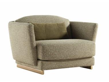 Fabric armchair with armrests PARIS PANAME | Armchair