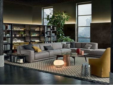 Corner sectional fabric sofa PARIS-SEOUL | Corner sofa