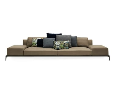 Sectional leather sofa with removable cover PARK | Leather sofa