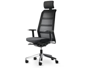 Swivel task chair with 5-Spoke base with armrests PARO_24/7 | Task chair with armrests