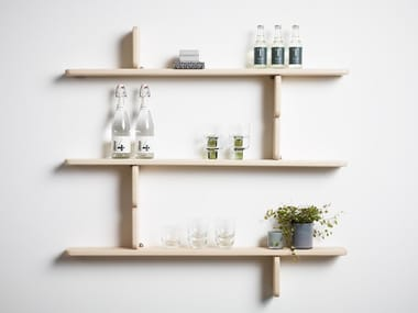 Solid wood wall shelf PART