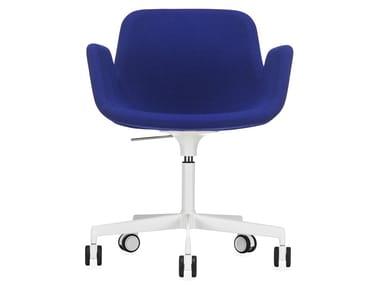Cadeira operativa ajustável em altura de tecido de 5 raios PASS | Cadeira operativa ajustável em altura