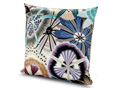 Cuscino in raso di cotone stampato a fiori PASSIFLORA GIANT   Cuscino