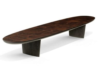Low solid wood coffee table PATCHWORK | Coffee table