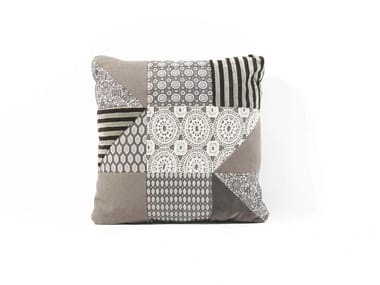 Square fabric cushion PATCHWORK