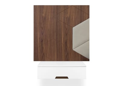 Rectangular wall-mounted bedside table with drawers PATCHWORK | Bedside table