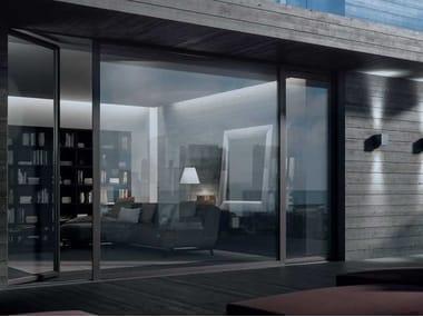 Porta-finestra a battente a taglio termico in legno SLIM | Porta-finestra a battente