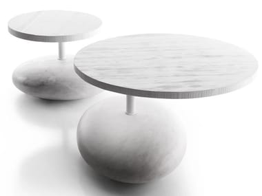 Round marble coffee table PAVE