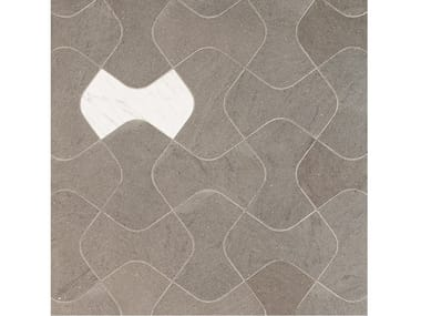 Carrara marble and Basaltina wall/floor tiles PAVESINO