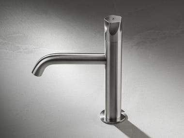Countertop single handle stainless steel washbasin mixer PE289