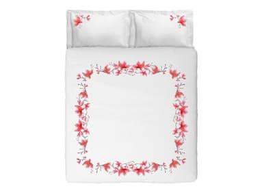 Coordinato letto in cotone con motivi floreali PEACH BLOSSOM KING SET | Coordinato letto in cotone