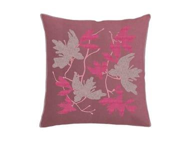 Cuscino quadrato in cotone con motivi floreali PEACH BLOSSOM | Cuscino con motivi floreali