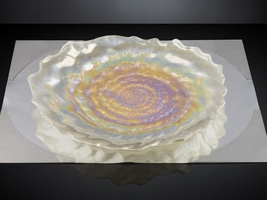 Glass dinner plate PEARL | Plate