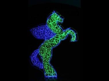 Plexiglass sculpture with light PEGASO 2008